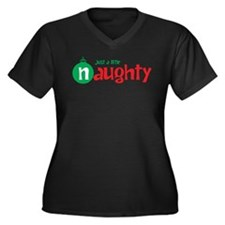 Just a Little Naughty Women's Plus Size V-Neck Dar