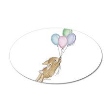 HappyHoppers® - Bunny - 38.5 x 24.5 Oval Wall Peel