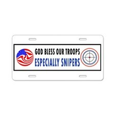 SNIPER Aluminum License Plate