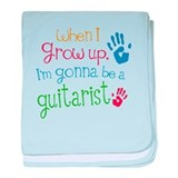Kids Future Guitarist baby blanket