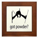 got powder? Framed Tile