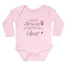Kids Future Hiker Long Sleeve Infant Bodysuit