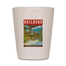 Railroad Magazine Cover 2 Shot Glass