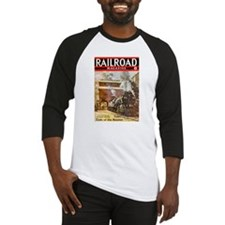 Railroad Magazine Cover 3 Baseball Jersey