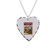 Railroad Magazine Cover 3 Necklace