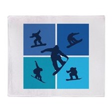 Nice various snowboarding Throw Blanket