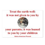 NATIVE AMERICAN PROVERB Postcards (Package of 8)