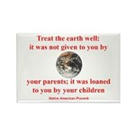 NATIVE AMERICAN PROVERB Rectangle Magnet (100 pack