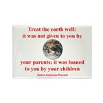NATIVE AMERICAN PROVERB Rectangle Magnet (10 pack)