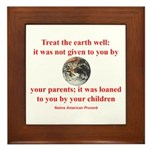 NATIVE AMERICAN PROVERB Framed Tile
