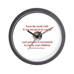 NATIVE AMERICAN PROVERB Wall Clock