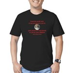 NATIVE AMERICAN PROVERB Men's Fitted T-Shirt (dark