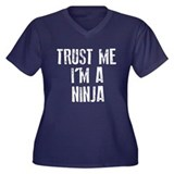 Trust Me I'm A Ninja Women's Plus Size V-Neck Dark