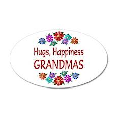 Grandma Hugs 22x14 Oval Wall Peel