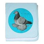 Frillback Pigeon Grizzle baby blanket