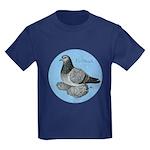 Frillback Pigeon Grizzle Kids Dark T-Shirt