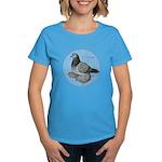 Frillback Pigeon Grizzle Women's Dark T-Shirt