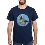 Frillback Pigeon Grizzle Dark T-Shirt