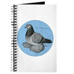 Frillback Pigeon Grizzle Journal