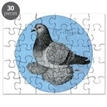 Frillback Pigeon Grizzle Puzzle