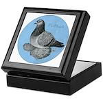 Frillback Pigeon Grizzle Keepsake Box