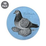 "Frillback Pigeon Grizzle 3.5"" Button (10 pack"