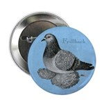 "Frillback Pigeon Grizzle 2.25"" Button (100 pa"