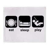 Eat Sleep Play Throw Blanket