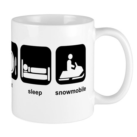 Eat Sleep Snowmobile Mug