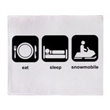 Eat Sleep Snowmobile Throw Blanket