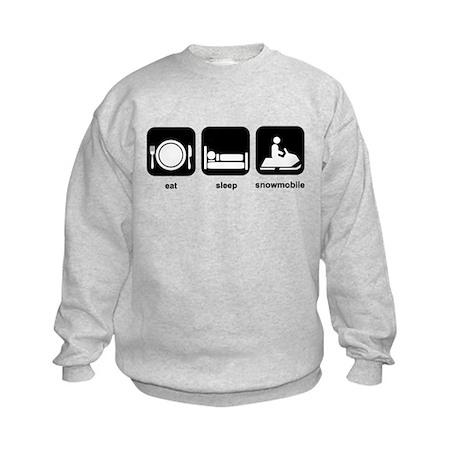 Eat Sleep Snowmobile Kids Sweatshirt