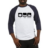 Eat Sleep Snowmobile Baseball Jersey