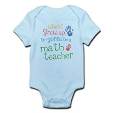 Kids Future Math Teacher Infant Bodysuit