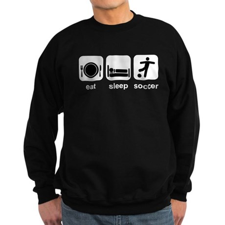 Eat Sleep Soccer Sweatshirt (dark)