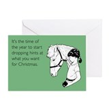 Dropping Christmas Hints Greeting Card