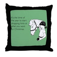 Dropping Christmas Hints Throw Pillow
