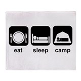 Eat Sleep Camp Throw Blanket