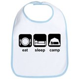 Eat Sleep Camp Bib