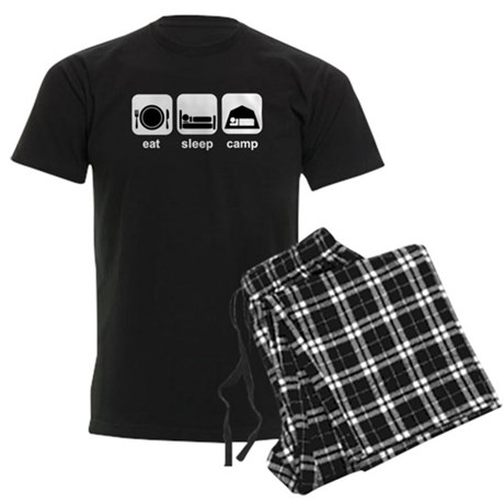 Eat Sleep Camp Men's Dark Pajamas