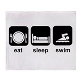 Eat Sleep Swim Throw Blanket