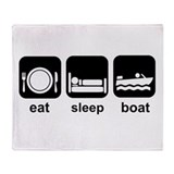 Eat Sleep Boat Throw Blanket