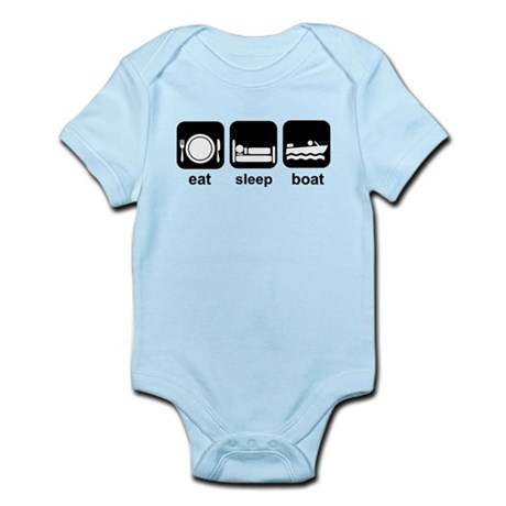 Eat Sleep Boat Infant Bodysuit