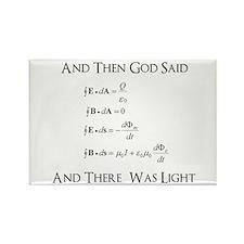 And God Said... Funny Rectangle Magnet