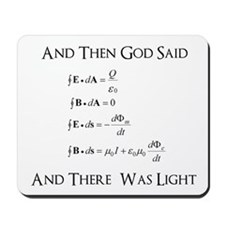 And God Said... Funny Mousepad
