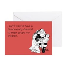 Flamboyantly Dressed Stranger Greeting Card
