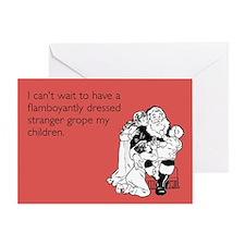 Flamboyantly Dressed Stranger Greeting Card