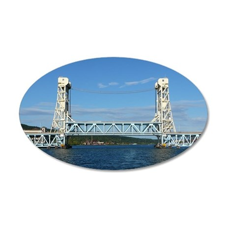 Portage Lake Lift Bridge 20x12 Oval Wall Decal