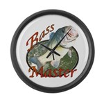 Bass master Large Wall Clock