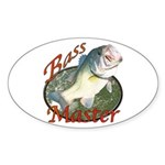 Bass master Sticker (Oval)