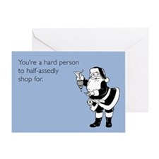 Half-Assed Shopping Greeting Card